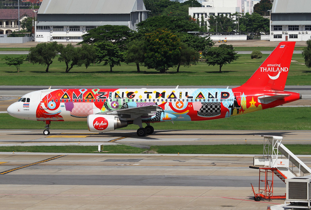 On the way to the stand after landing, coming from Khon Kaen KKC. Delivered 02/2008 wearing the amazing Thailand livery.
