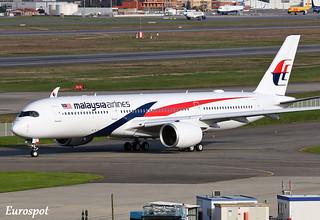 F-WZFC Airbus A350 Malaysia