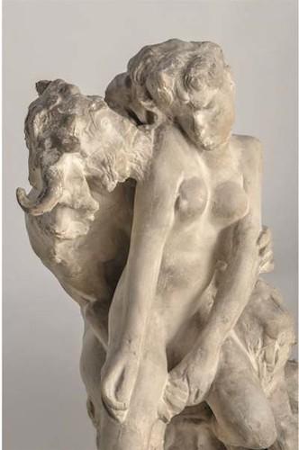 El minotauro, c. 1885. Yeso.(Fragmento)