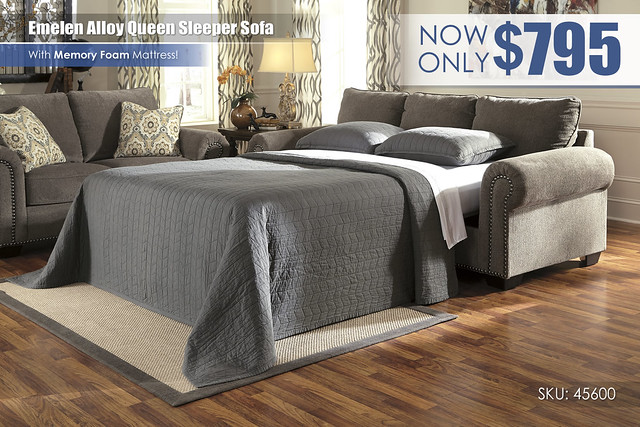 Emelen Alloy Sleeper Sofa_45600-39