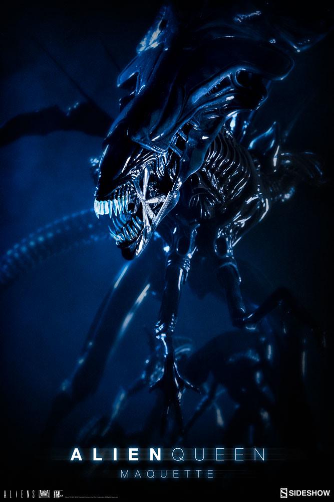 令人嚇破膽的恐怖場景完全再現!! Sideshow Collectibles《異形2》異形女王 Alien Queen Maquette 全身雕像作品
