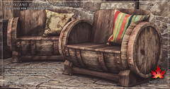 Trompe Loeil - Knoxlane Cottage & Barrel Bench for Collabor88 April