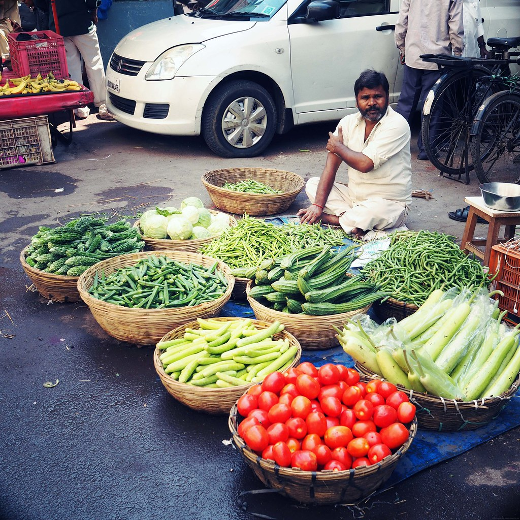 Fresh Vegetable Floor Stall Mumbai_effected
