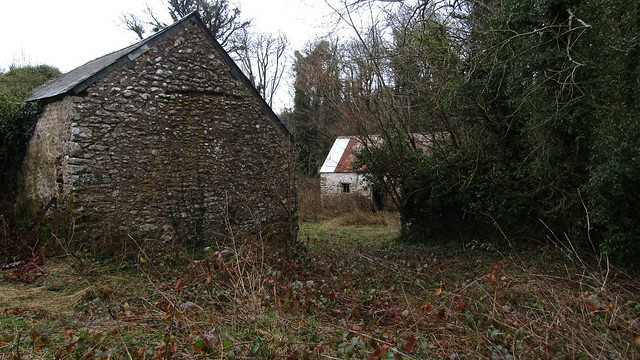 Derelict buildings at Clampitt