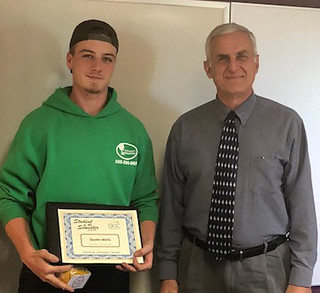 Mon, 05/07/2018 - 16:52 - Spring 2018 Student of the Semester at the Medina Campus Center, Dustin Wells