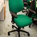Vintage hug back operator chair E125