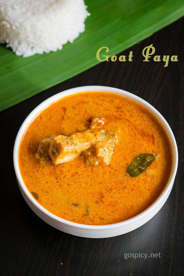 Goat Paya Recipe by GoSpicy.net