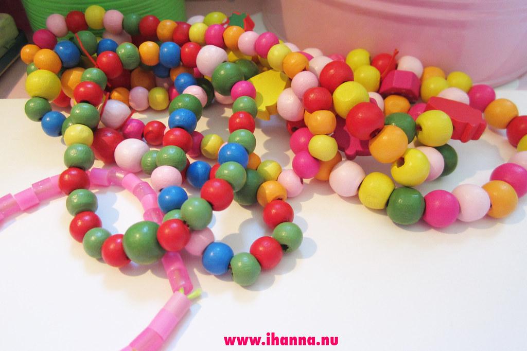 Wood bead jewelry