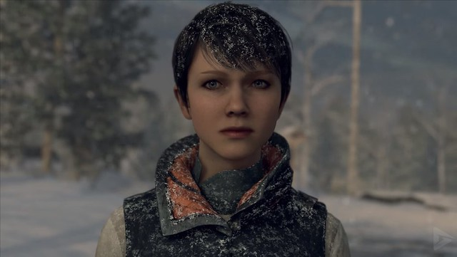 Detroit Become Human - Kara in the Snow