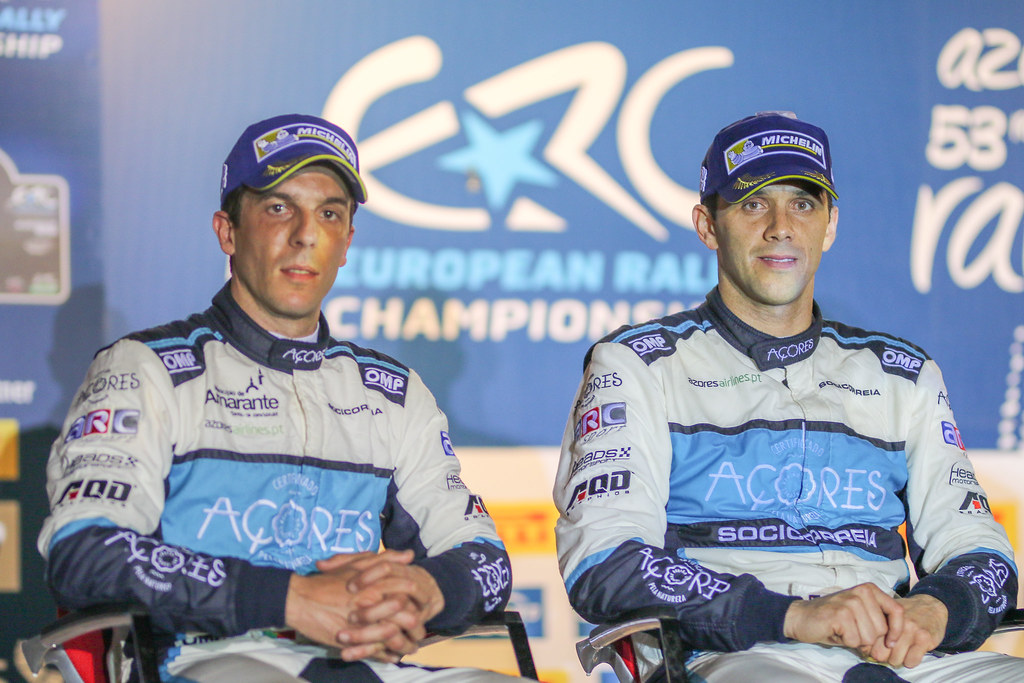 07 MOURA Ricardo (prt), COSTA Antonio (prt), FORD FIESTA R5, press conference during the 2018 European Rally Championship ERC Azores rally,  from March 22 to 24, at Ponta Delgada Portugal - Photo Jorge Cunha / DPPI