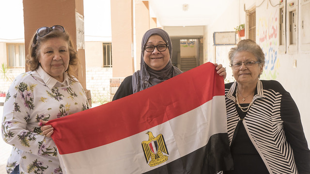 Egyptian women voters in Egypt's Presidential elections 2018