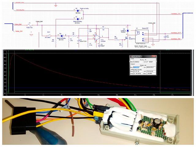 fabrication d'un retardateur d'extinction d'alimentation de l'autoradio: schématique, simulation et prototypage