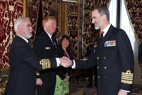 El Rey Felipe VI en una audiencia en el Palacio Real