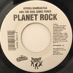 AFRIKA BAMBAATAA AND THE SOUL SONIC FORCE:PLANET ROCK(LABEL SIDE-B)