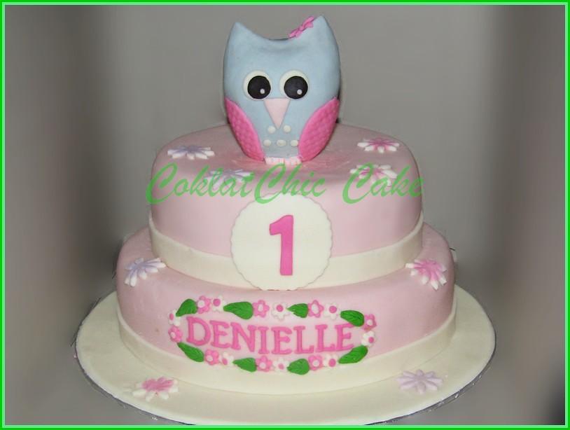 Cake Owl DENIELLE 20 dan 18 cm