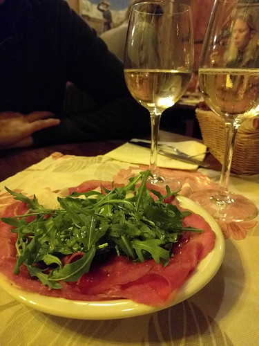 'drunk' carpaccio and wine @ Enoteca il Goccetto