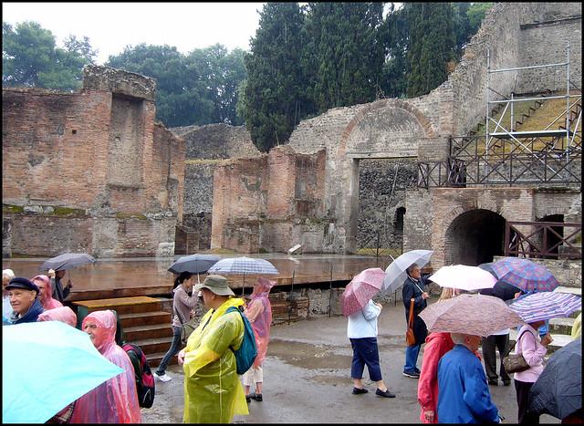 Umbrellas in Pompeii., Panasonic DMC-LS2