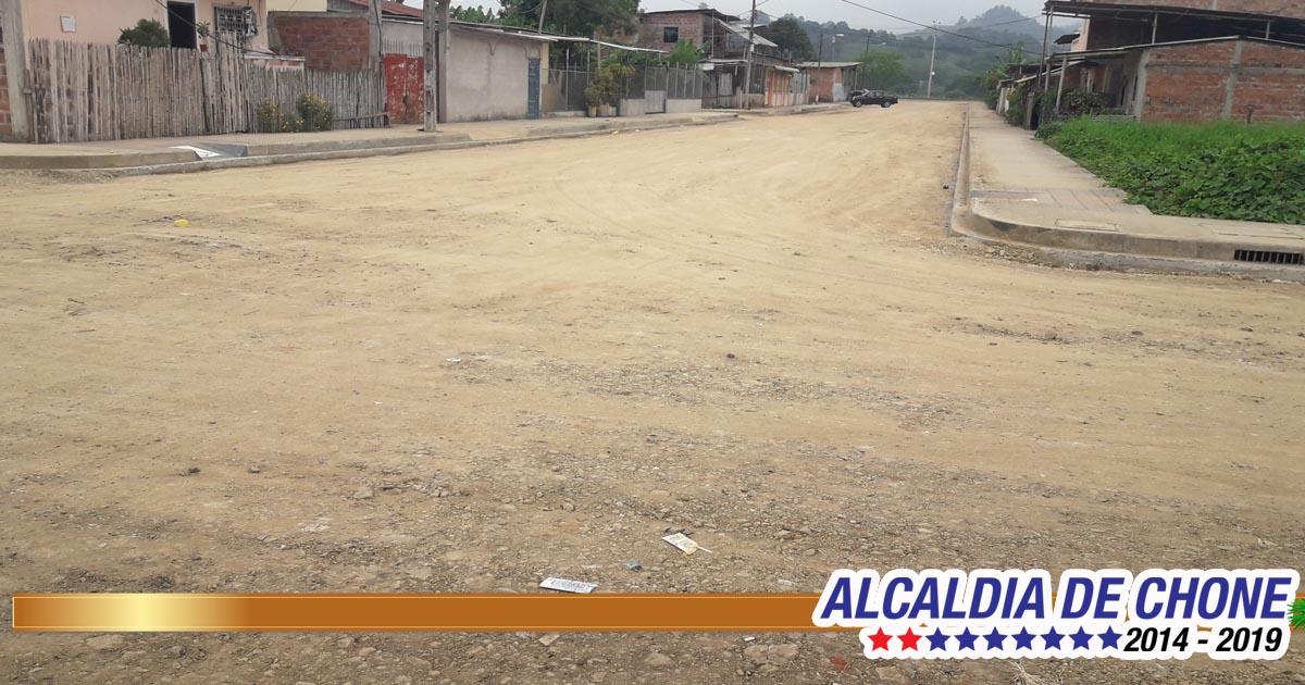 Obras Públicas rehabilita calles de la ciudadela Vargas Pazzos en Chone