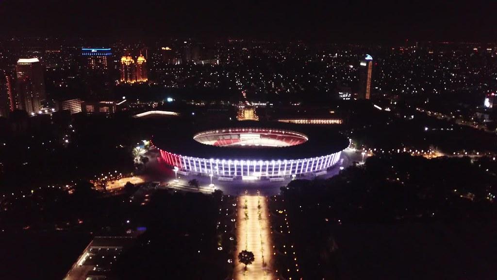 Gelora Bung Karno Stadium at Night, Jakarta