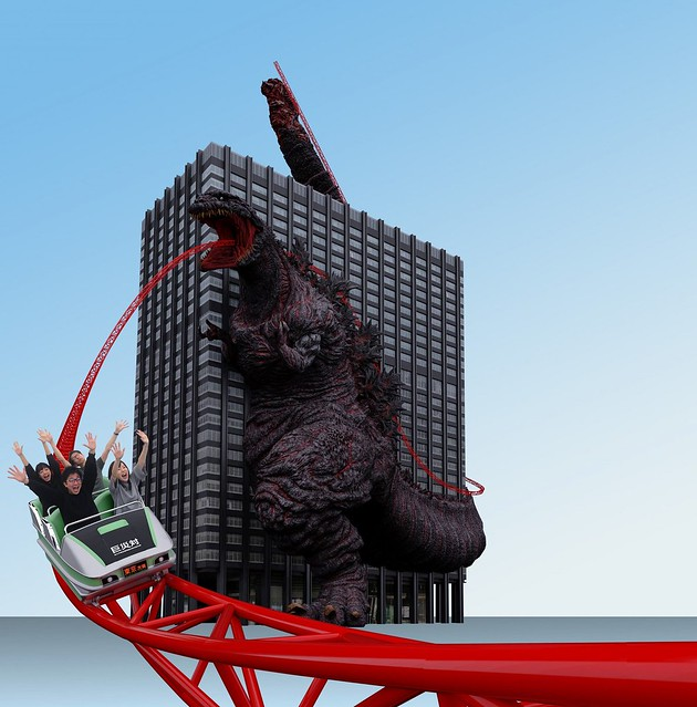 地表最強回收再利用!?東寶計畫將凍結的「哥吉拉」改造成雲霄飛車!