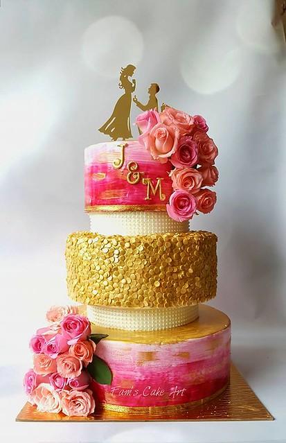 Wedding Cake by Fam's Cake Art