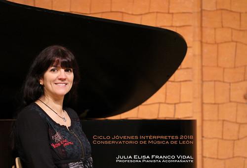 JULIA ELISA FRANCO VIDAL, PROFESORA PIANISTA ACOMPAÑANTE - CICLO JÓVENES INTÉRPRETES 2018 - CONSERVATORIO DE LEÓN