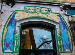 Art Nouveau Building Facade on the Spui, Amsterdam