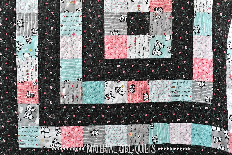 Panda Love - Ripple Baby quilt by Amanda Castor of Material Girl Quilts