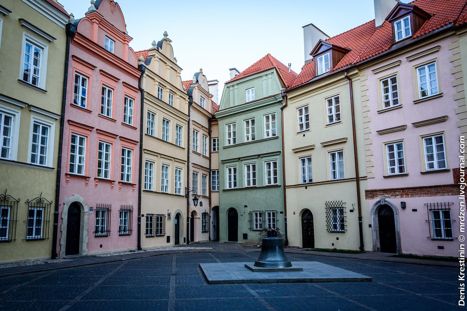 Варшава. Старый город. Площадь Канония.