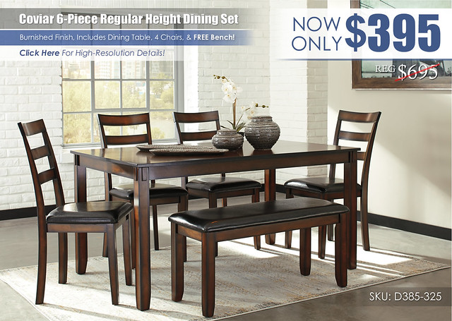 Coviar 6PC Dining Set_D385-325-R400462