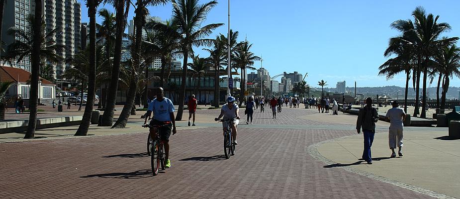 Wat te doen in Durban, Zuid-Afrika? Fietsen langs het strand | Mooistestedentrips.nl