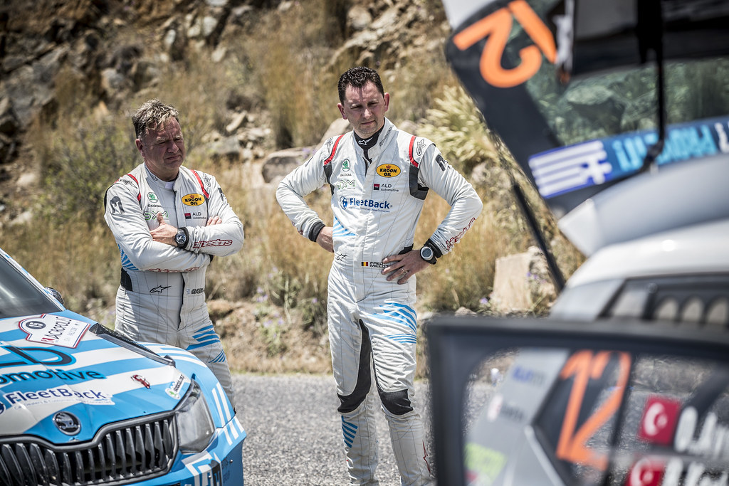 SERDERIDIS Jourdan (bel), MICLOTTE Frederic (bel), Skoda Fabia R5, portraitan (bel), MICLOTTE Frederic (bel), Skoda Fabia R5, action during the European Rally Championship 2018 - Acropolis Rally Of Grece, June 1 to 3 at Lamia - Photo Gregory Lenormand / DPPI
