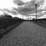 On Penwortham old bridge, Preston
