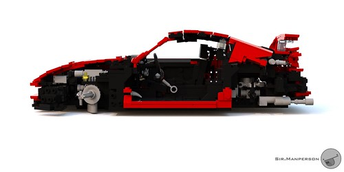 Toyota Supra cross section - 16-wide - Lego