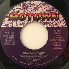 THE BOYS:DIAL MY HEART(LABEL SIDE-A)
