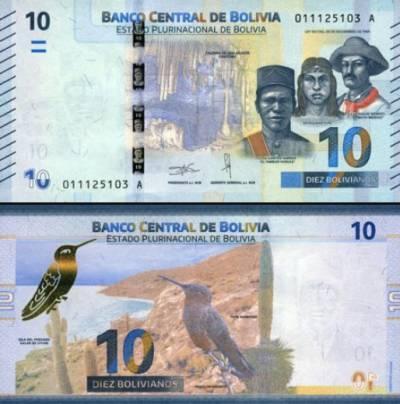 10 Bolivianos Bolívia 2018