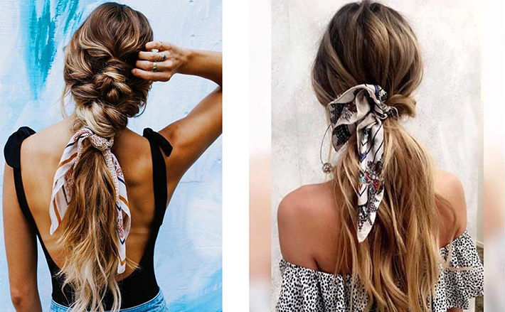 Cool Summer Hairstyles With Scarfs trend 2018 style fashion tendencias6