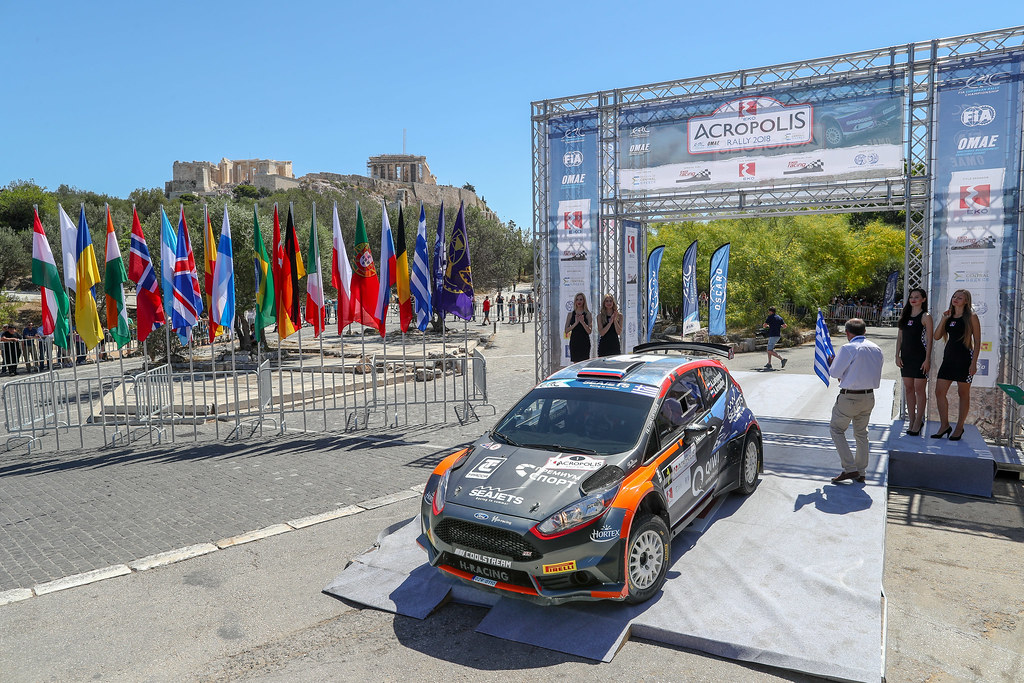 01 LUKYANUK Alexey (rus), ARNAUTOV Alexey (rus), Russian Performance Motorsport, FORD FIESTA R5, podium ambiance during the European Rally Championship 2018 - Acropolis Rally Of Grece, June 1 to 3 at Lamia - Photo Alexandre Guillaumot / DPPI