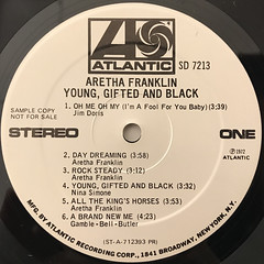 ARETHA FRANKLIN:YOUNG, GIFTED AND BLACK(LABEL SIDE-A)