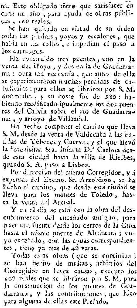 """Descripción de las buenas obras desarrolladas en Toledo por su corregidor Gabriel Amando Salido en """"El Correo de Madrid o de los Ciegos"""" el 10 de noviembre de 1796. (2)"""