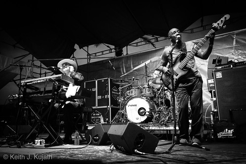 Jon Cleary on Day 2 of French Quarter Fest - 4.13.18. Photo by Keith Kujath.