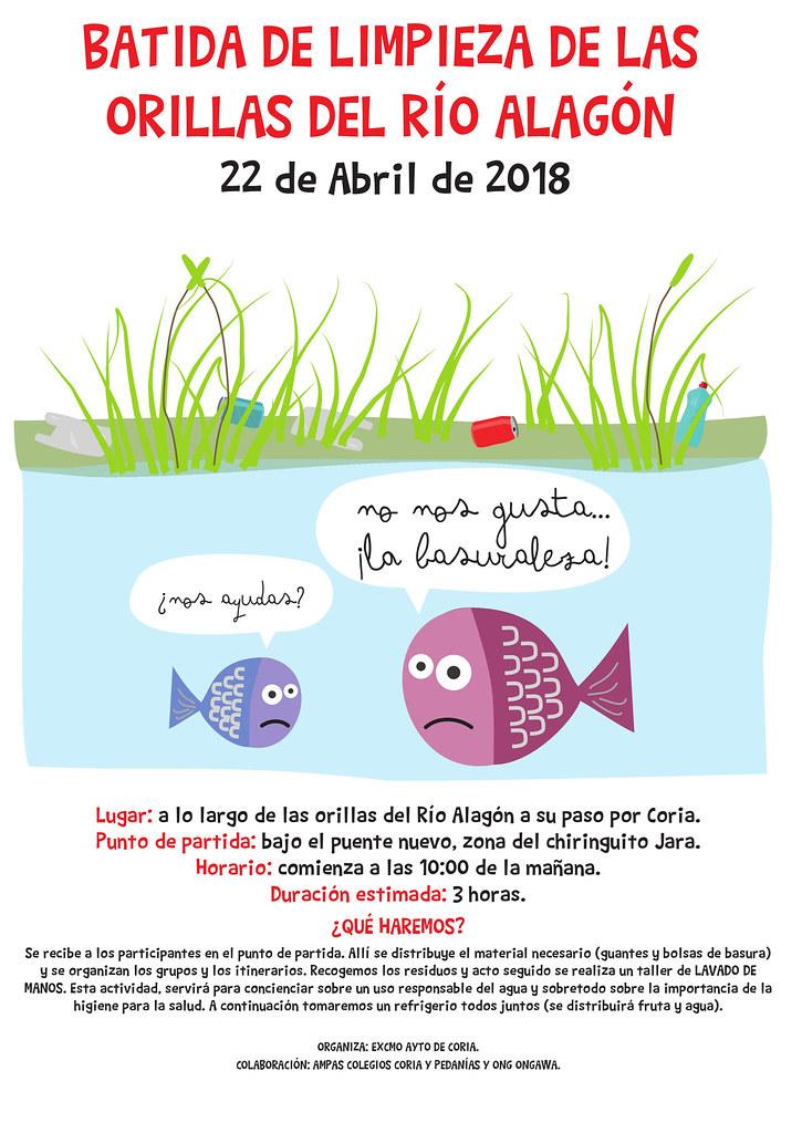 Batida de limpieza a orillas del río Alagón el próximo día 22 de abril