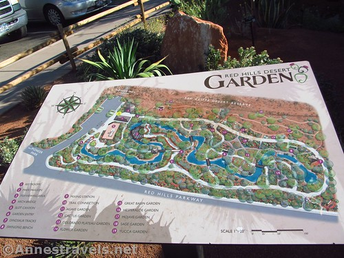 Official map of the Red Hills Desert Garden in St. George, Utah