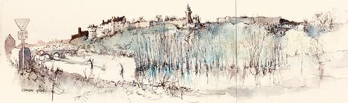 CHINON quai Ile de Tours