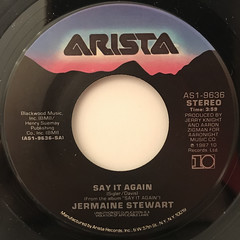 JERMAINE STEWART:SAY IT AGAIN(LABEL SIDE-A)