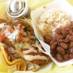 thank you❤︎ ・ ・ ・ #tacoszarate #kahala #hawaii #zarate #fishtaco #beans #rice