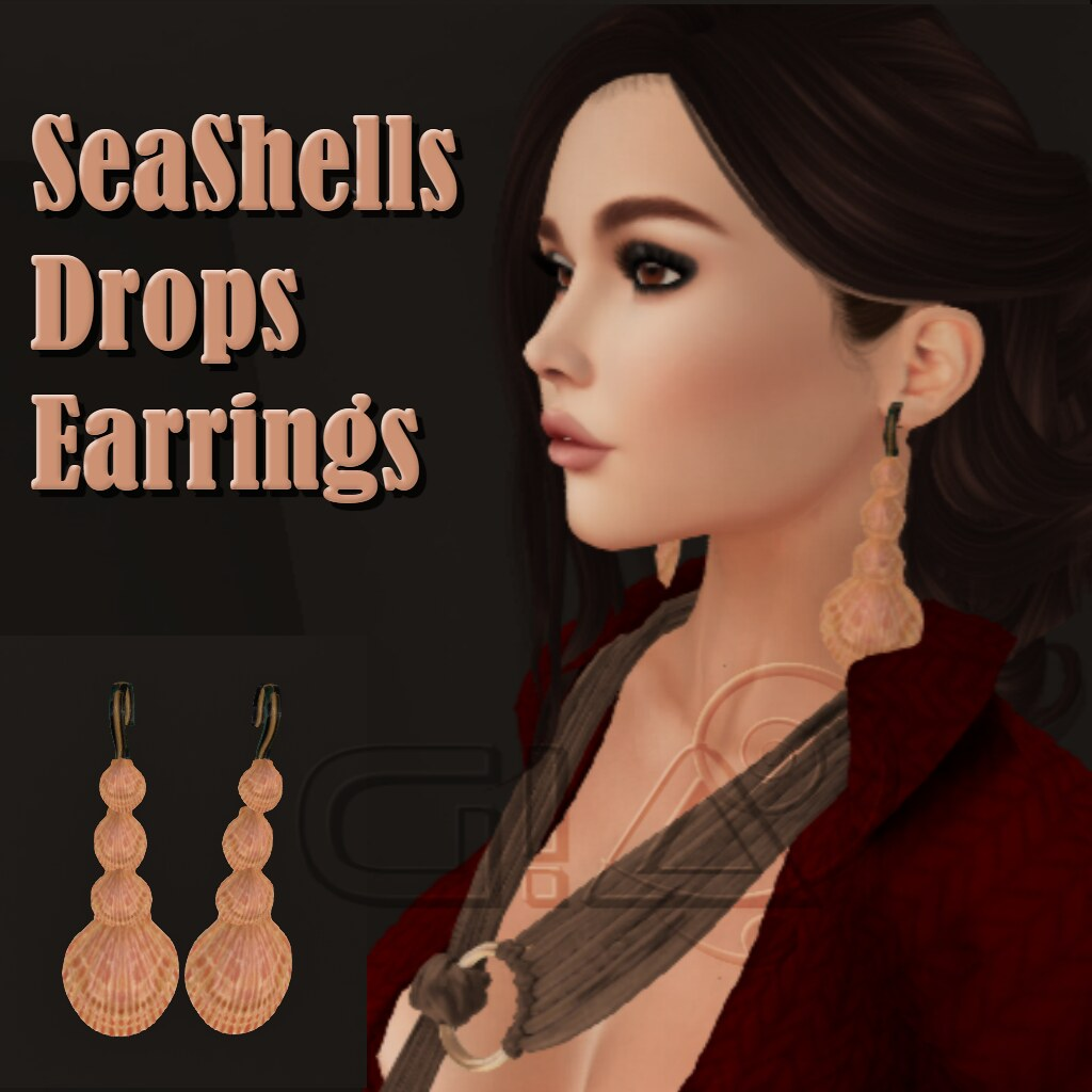 Seashells Drop earrings Vendor - TeleportHub.com Live!