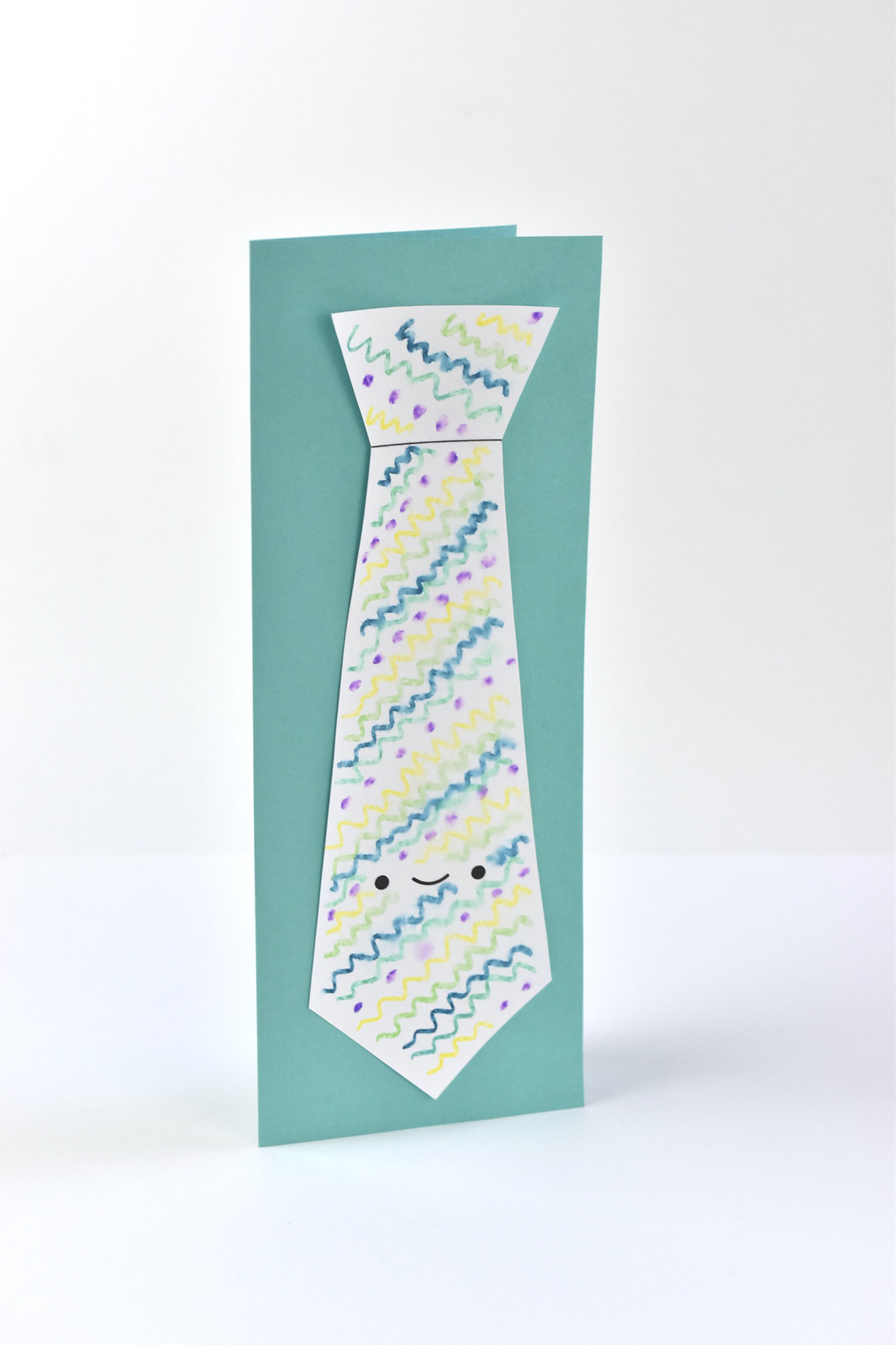 Father's Day Printable Kawaii Tie Card