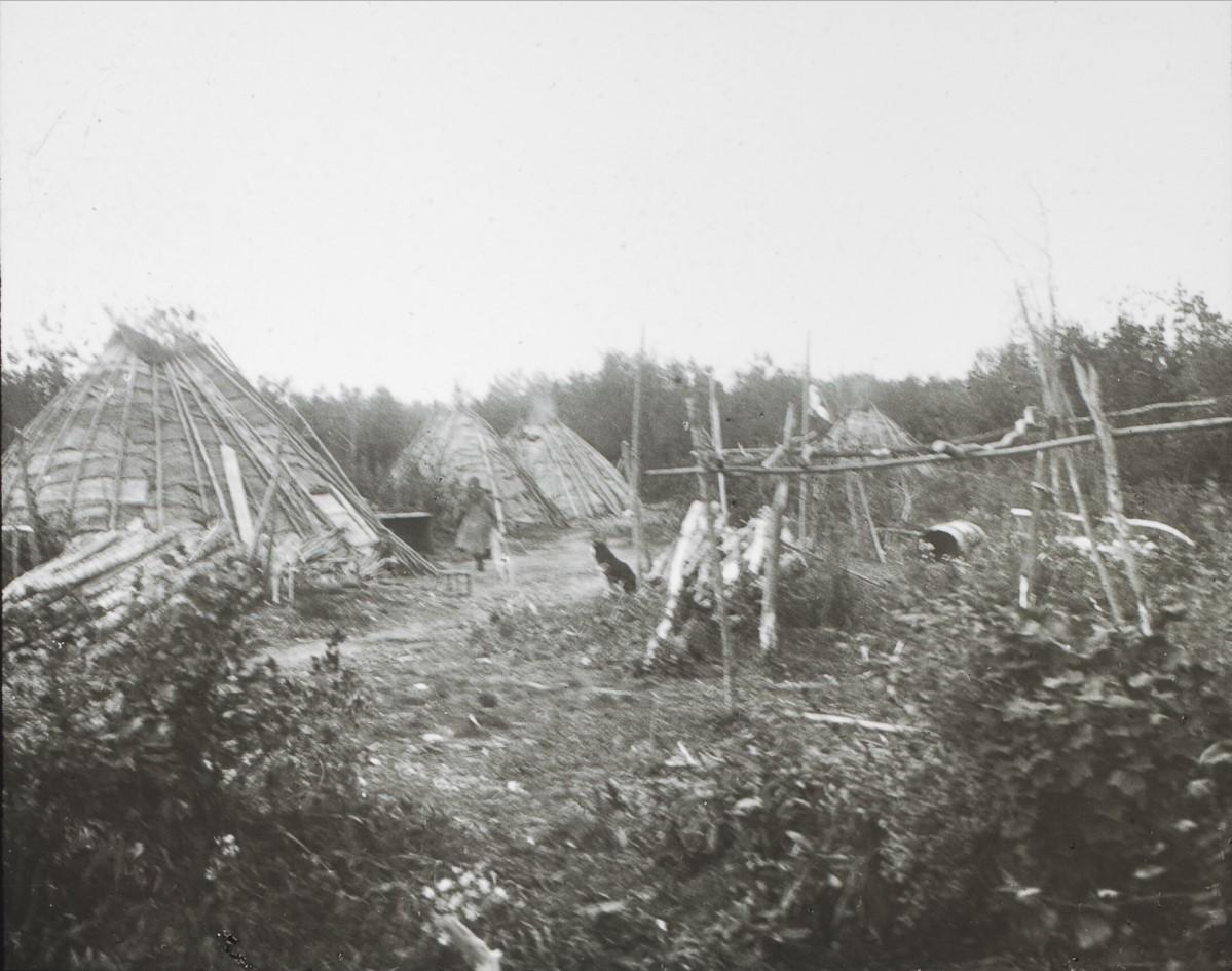 Якутская область. Тунгусское стойбище на Лене