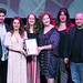 Winners of the BEST ENSEMBLE award The Royal Lyceum Theatre for THE BELLE'S STRATAGEM, (L_R) Angus Miller, Nicola Roy, Helen Mackay, Blythe Duff, Claire Williamson, Tony Cownie. Photo credit Perth Picture Agency.
